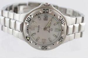 NEW IN BOX LARGE FACE DIVER'S SOLID STAINLESS STEEL BULOVA MAN'S
