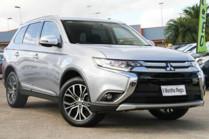 2016 Mitsubishi Outlander ZK MY16 LS 4WD Silver 6 Speed Constant Variable Wagon Hillcrest Logan Area Preview