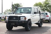 2016 Toyota Landcruiser VDJ79R Workmate Double Cab French Vanilla 5 Speed Manual Dual Cab Chassis The Gardens Darwin City Preview