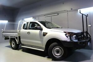 2012 Ford Ranger PX XL Super Cab Silver 6 Speed Manual Cab Chassis Launceston Launceston Area Preview