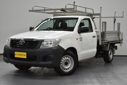 2013 Toyota Hilux TGN16R MY12 Workmate 4x2 White 5 Speed Manual Cab Chassis Brooklyn Brimbank Area Preview