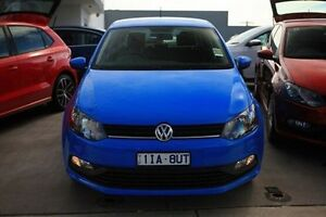 2016 Volkswagen Polo 6R MY16 66TSI DSG Trendline Blue 7 Speed Sports Automatic Dual Clutch Hatchback Frankston Frankston Area Preview