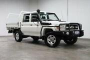 2014 Toyota Landcruiser VDJ79R MY13 GXL Double Cab White 5 Speed Manual Cab Chassis Welshpool Canning Area Preview
