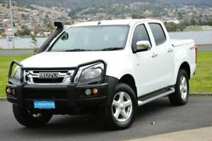 2013 Isuzu D-MAX MY12 LS-U Crew Cab White 5 Speed Manual Utility Derwent Park Glenorchy Area Preview