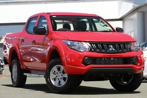 2016 Mitsubishi Triton MQ MY16 GLX+ Double Cab Red 6 Speed Manual Utility Springwood Logan Area Preview