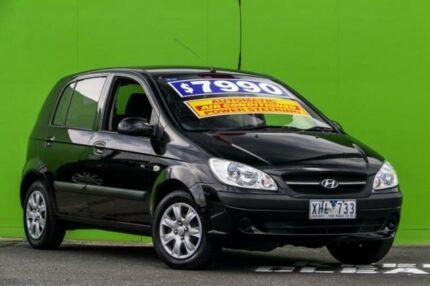 2009 Hyundai Getz TB MY09 SX Black 4 Speed Automatic Hatchback Ringwood East Maroondah Area Preview