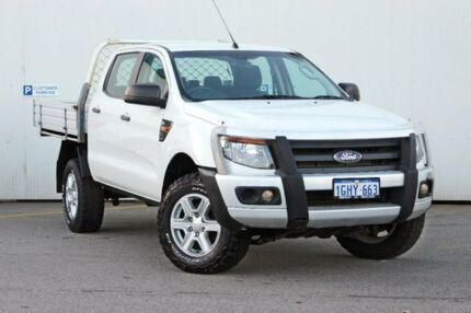 2012 Ford Ranger PX XL Double Cab White 6 Speed Manual Cab Chassis Midland Swan Area Preview