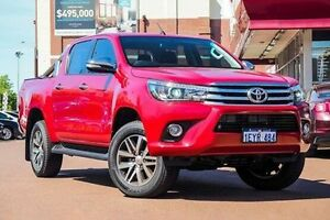 2016 Toyota Hilux GUN126R SR5 Double Cab Red 6 Speed Sports Automatic Utility Fremantle Fremantle Area Preview