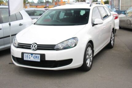 2012 Volkswagen Golf VI MY12.5 90TSI DSG Trendline White 7 Speed Sports Automatic Dual Clutch Wagon Heatherton Kingston Area Preview