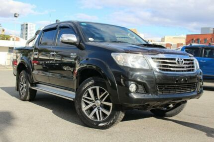 2012 Toyota Hilux KUN26R MY12 SR5 Double Cab Black 5 Speed Manual Utility