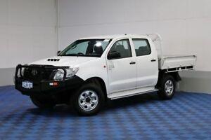 2012 Toyota Hilux KUN26R MY12 SR (4x4) White 5 Speed Manual Dual C/Chas