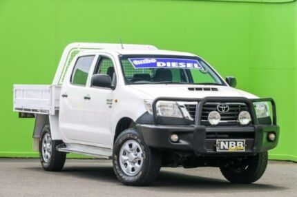 2013 Toyota Hilux KUN26R MY14 SR Double Cab Glacier White 5 Speed Manual Cab Chassis Ringwood East Maroondah Area Preview