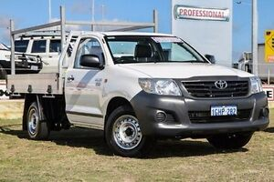 2015 Toyota Hilux TGN16R MY14 Workmate White 5 Speed Manual Cab Chassis Bibra Lake Cockburn Area Preview