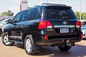 2013 Toyota Landcruiser VDJ200R MY12 Sahara Ebony Black 6 Speed Sports Automatic Wagon
