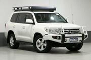 2009 Toyota Landcruiser VDJ200R Sahara (4x4) White 6 Speed Automatic Wagon Bentley Canning Area Preview