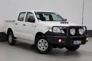 2013 Toyota Hilux KUN26R MY12 SR (4x4) White 4 Speed Automatic Dual Cab Pick-up Bentley Canning Area Preview