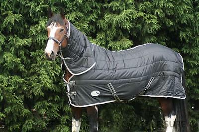 EQUIDOR CHARGER HEAVYWEIGHT 300G FILL 420 DENIER STABLE HORSE RUG FIXED NECK