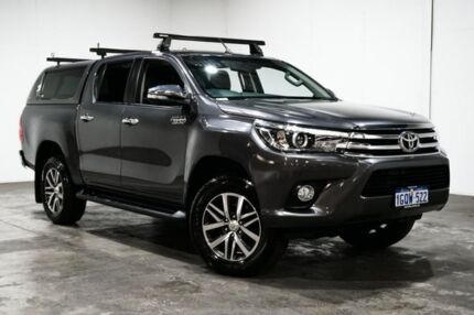 2016 Toyota Hilux GUN126R SR5 Double Cab Grey 6 Speed Sports Automatic Utility Welshpool Canning Area Preview