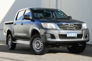 2014 Toyota Hilux KUN26R MY14 SR Double Cab Grey 5 Speed Automatic Utility Rockingham Rockingham Area Preview