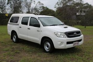 2010 Toyota Hilux KUN16R MY10 SR White 5 Speed Manual Utility Ormeau Gold Coast North Preview