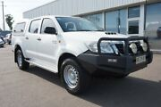 2012 Toyota Hilux KUN26R MY12 SR Double Cab White 4 Speed Automatic Utility Cardiff Lake Macquarie Area Preview