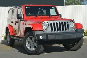2014 Jeep Wrangler JK MY2014 Unlimited Sport Red 5 Speed Automatic Softtop Nailsworth Prospect Area Preview