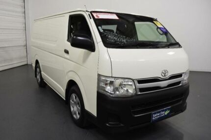 2013 Toyota Hiace KDH201R MY12 Upgrade LWB White 4 Speed Automatic Van