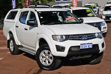 2013 Mitsubishi Triton MN MY13 GLX Double Cab White 4 Speed Sports Automatic Utility Cannington Canning Area Preview