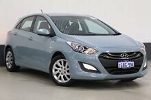 2014 Hyundai i30 GD MY14 Active Stone Blue 6 Speed Automatic Hatchback Bentley Canning Area Preview