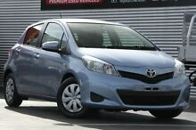 2013 Toyota Yaris NCP130R YR Caribbean Blue 4 Speed Automatic Hatchback Christies Beach Morphett Vale Area Preview