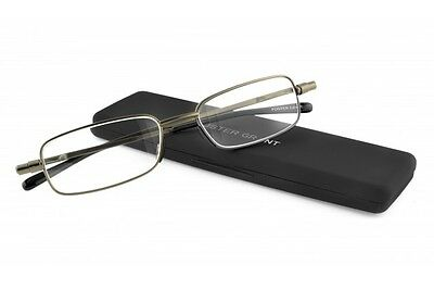 Foster Grant Gavin Gun Flat Folding Reading Glasses +2.75