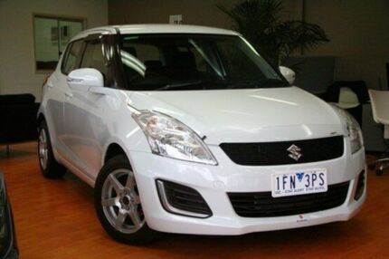 2014 Suzuki Swift  White Automatic Hatchback Cranbourne Casey Area Preview