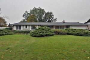Detached Bungalaw House in Mississauga Rd &QEW area .