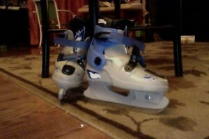 Youth skates blue they grow skate size 11, 12, 13