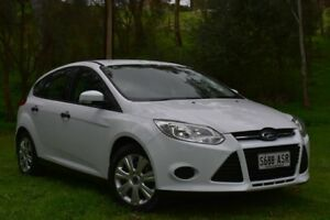 2012 Ford Focus LW Ambiente White 5 Speed Manual Hatchback St Marys Mitcham Area Preview