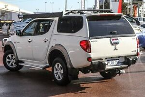 2007 Mitsubishi Triton ML MY08 GLX-R Double Cab White 4 Speed Automatic Utility Wilson Canning Area Preview