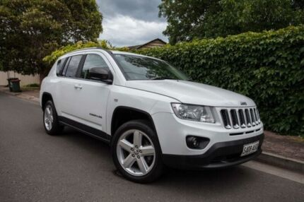 2012 Jeep Compass MK MY13 Limited CVT Auto Stick White 6 Speed Constant Variable Wagon