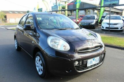 2013 Nissan Micra K13 MY13 ST Black 4 Speed Automatic Hatchback West Footscray Maribyrnong Area Preview