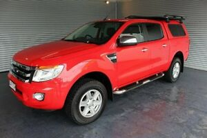 2013 Ford Ranger PX XLT Double Cab Red 6 Speed Sports Automatic Utility Parramatta Park Cairns City Preview