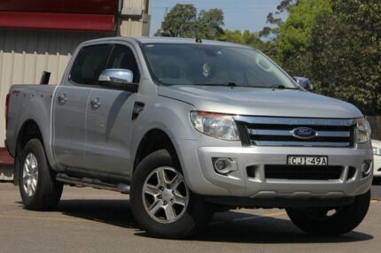 2012 Ford Ranger PX XLT 3.2 HI-Rider (4x2) Silver 6 Speed Automatic Crew Cab P/Up
