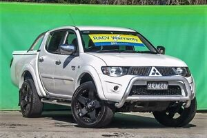 2012 Mitsubishi Triton MN MY12 GLX-R Double Cab White 5 Speed Sports Automatic Utility Ringwood East Maroondah Area Preview
