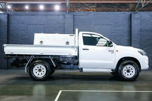 2013 Toyota Hilux KUN26R MY12 Workmate White 4 Speed Automatic Cab Chassis Northbridge Perth City Area Preview