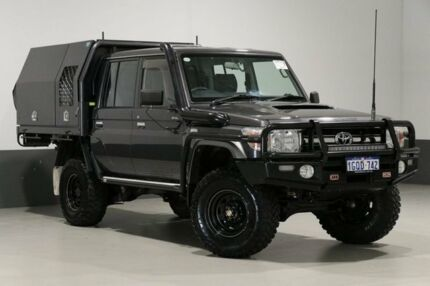 2015 Toyota Landcruiser VDJ79R MY12 Update GXL (4x4) Graphite 5 Speed Manual Double Cab Chassis Bentley Canning Area Preview