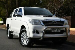 2012 Toyota Hilux KUN26R MY12 SR5 Double Cab White 4 Speed Automatic Utility Thorngate Prospect Area Preview