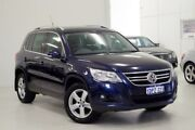 2011 Volkswagen Tiguan 5N MY11 147TSI DSG 4MOTION Blue 7 Speed Sports Automatic Dual Clutch Wagon Myaree Melville Area Preview
