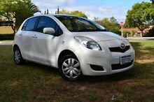 2009 Toyota Yaris NCP90R MY10 YR White 4 Speed Automatic Hatchback Claremont Nedlands Area Preview