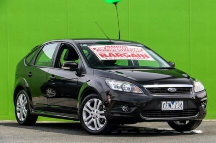 2010 Ford Focus LV Mk II Zetec Black 5 Speed Manual Hatchback Ringwood East Maroondah Area Preview