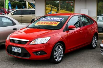 2010 Ford Focus LV LX Red 4 Speed Sports Automatic Hatchback Ringwood East Maroondah Area Preview