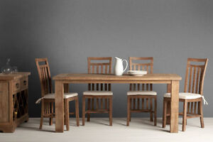 50% OFF. SOLID WOOD HARVEST/TRESTLE BASE/FARMHOUSE DINING TABLE