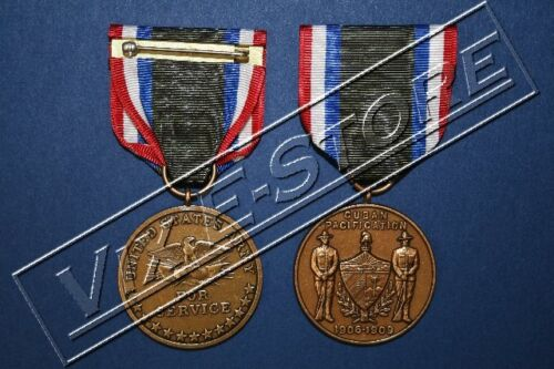 ARMY CUBAN PACIFICATION MEDAL (1906-1909) Full Size, Issue Finish (REPRO) (1086)